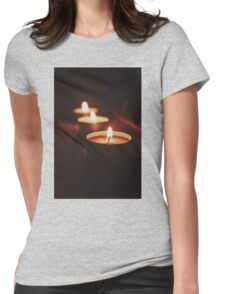 Candles Womens Fitted T-Shirt