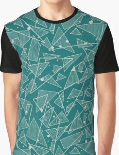 Geometric Stylish Pattern - Triangles in Teal Graphic T-Shirt