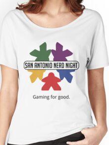 San Antonio Nerd Night - Color Flat (Light) Women's Relaxed Fit T-Shirt
