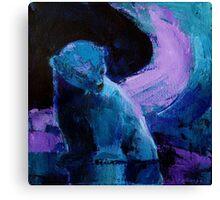 Purple Night Bear Canvas Print