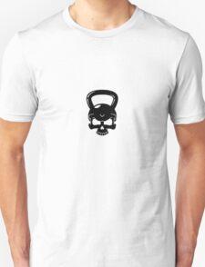 Kettlebell Skull White T-Shirt