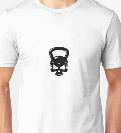 Kettlebell Skull White Unisex T-Shirt
