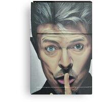 Unique David Bowie Street Art Metal Print