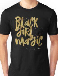 Black Girl Magic Nah BLM Black Lives Matter Faux Gold Glitter Bling Melanin African Queen Unisex T-Shirt