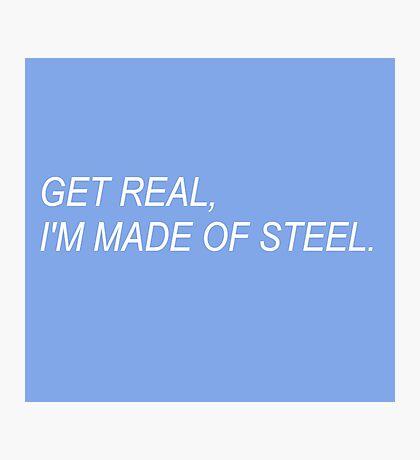 Get Real (dark blue) Photographic Print