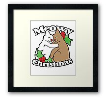 Meowy Christmas Cats Framed Print