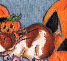 Piggy in the Pumpkin Patch Sticker