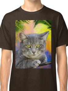 Kitty Kat Under the Palms  Classic T-Shirt
