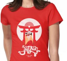 Japanese Bubble Gum Girl Womens Fitted T-Shirt