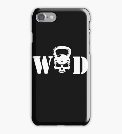 WOD Kettlebell Skull White iPhone Case/Skin