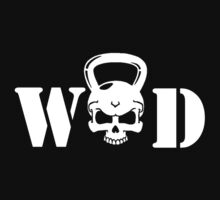 WOD Kettlebell Skull White by ZSBakerStreet