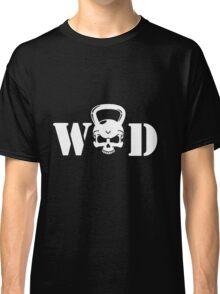 WOD Kettlebell Skull White Classic T-Shirt