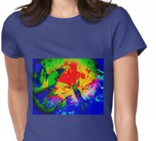 COLOURFUL VIBRANT FLUTTER BUTTERFLY Womens Fitted T-Shirt
