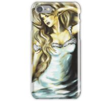 Sitting Beauty in light-blue dress iPhone Case/Skin