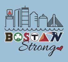 BOSTON Strong Skyline Baby Tee