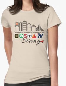 BOSTON Strong Skyline Womens Fitted T-Shirt