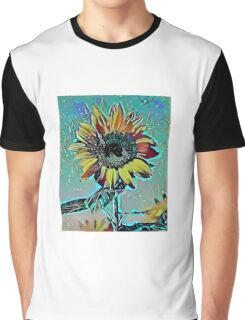 Sunflower Abstract 6 Graphic T-Shirt