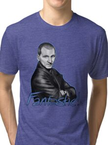 Ninth Doctor Who Christopher Eccleston Fantastic Tri-blend T-Shirt