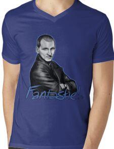 Ninth Doctor Who Christopher Eccleston Fantastic Mens V-Neck T-Shirt