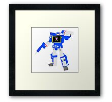 Soundwave Blocky Framed Print