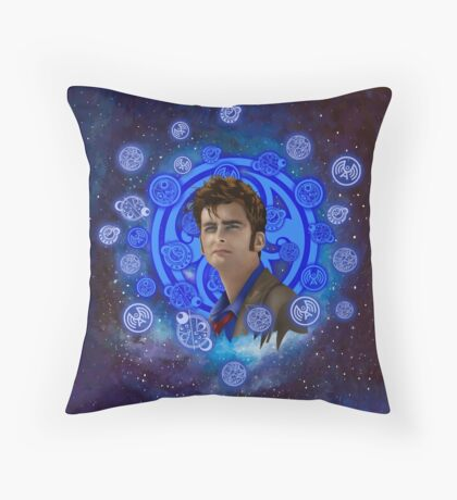 time and space traveller 10th generation Throw Pillow
