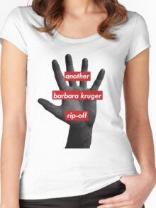 another barbara kruger rip-off Women's Fitted Scoop T-Shirt