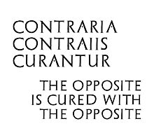Contraria Contraiis Curantur Photographic Print