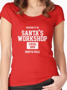Property of Santa's Workshop North Pole Women's Fitted Scoop T-Shirt