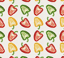 Mixed Peppers Pattern by Tracie Andrews