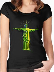 Men's Rolling Souls Christ The Redeemer T-shirt  Women's Fitted Scoop T-Shirt
