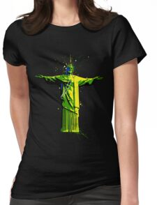 Men's Rolling Souls Christ The Redeemer T-shirt  Womens Fitted T-Shirt