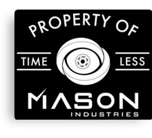 Timeless - Property Of Mason Industries Canvas Print