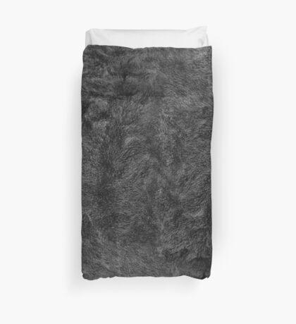 Gray Fur texture Duvet Cover
