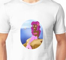 Lovely Mermaid on a Rock Unisex T-Shirt