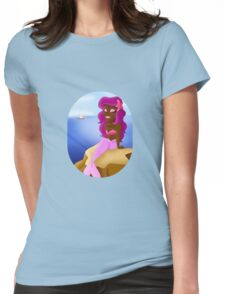 Lovely Mermaid on a Rock Womens Fitted T-Shirt