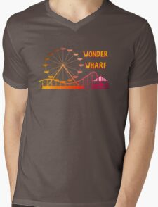 Wonder Wharf Mens V-Neck T-Shirt