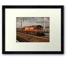 DB Schenker 66040 at Peterborough Framed Print