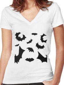 Bats Women's Fitted V-Neck T-Shirt
