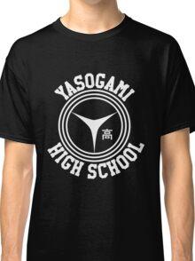 Yasogami Emblem with Text (White) Classic T-Shirt