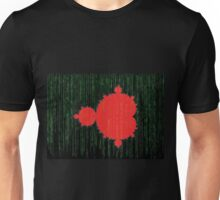 Mandelbrot Set Matrix Code (Red Black) Unisex T-Shirt