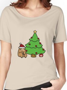 Christmas Tree Sloth Women's Relaxed Fit T-Shirt