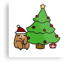 Christmas Tree Sloth Metal Print
