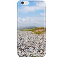 Fog Rolling In On Beach Filled With Pebbles iPhone Case/Skin