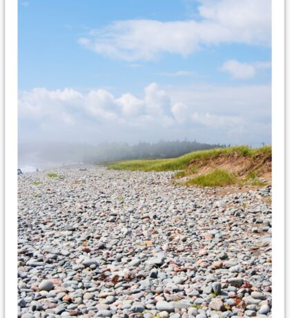 Fog Rolling In On Beach Filled With Pebbles Sticker