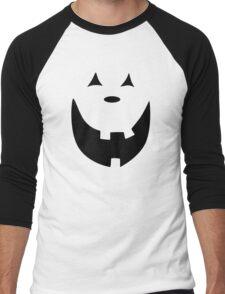 Happy Jack O'Lantern Face Men's Baseball ¾ T-Shirt