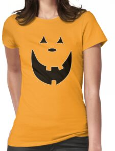 Happy Jack O'Lantern Face Womens Fitted T-Shirt