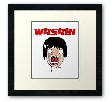 Funny Wasabi Anime Character Framed Print