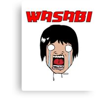 Funny Wasabi Anime Character Canvas Print
