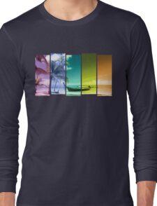 Colorful Beach Long Sleeve T-Shirt