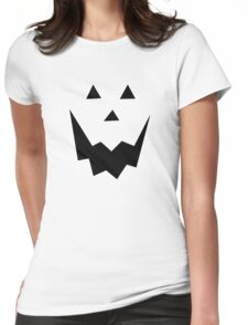 Jack O'Lantern Face Womens Fitted T-Shirt
